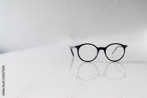 Black Eyeglasses closeup Canvas Print