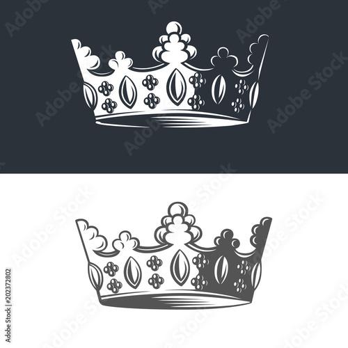 Slika na platnu Vector image of heraldic crown.