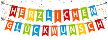 Herzlichen Glückwunsch Party Banner
