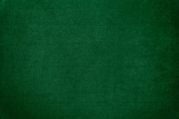 Dark green velvet texture background