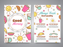 Good Morning Slogan On Brochur...