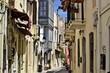 kleine Einkaufsstrasse in Griechenland