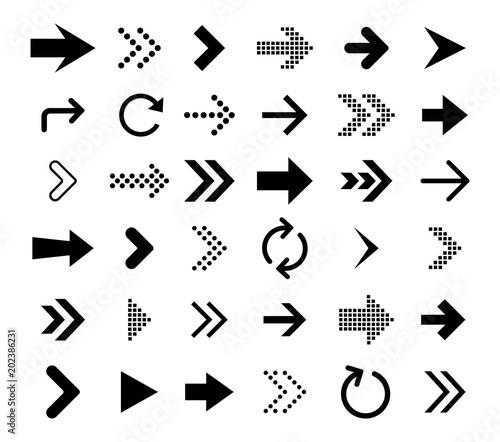 Arrow icon collection. Vector Canvas Print