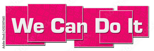 Photo  We Can Do It Pink Texture Blocks