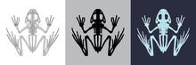 Frog Icon Set. Vector Illustra...