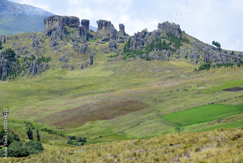 Foto op Canvas Pistache Landscape in Cumbemayo, Cajamarca, Peru