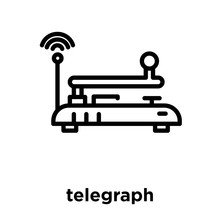 Telegraph Icon Isolated On Whi...