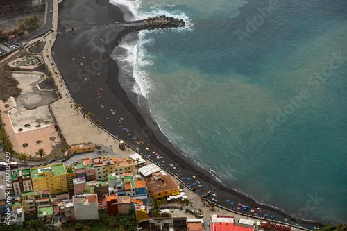 Fotografia  Strand, Draufsicht, La Palma, Kanarische Inseln, Insel