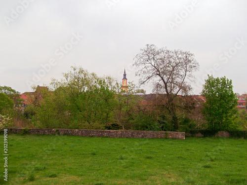 Foto  Blick zur historischen Altstadt Templin
