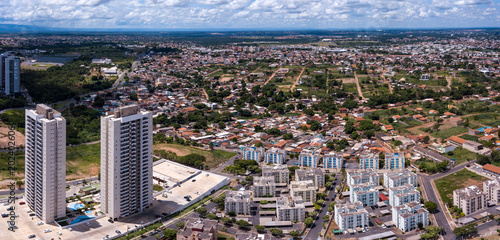 Fotografija  Aerial view of new modern building being built in the expansion of the center of the capital of Mato Grosso, Brazil
