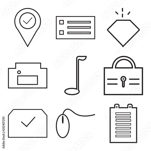 Stampe  Set Of 9 simple editable icons