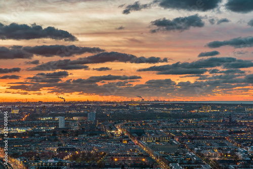 Staande foto Afrika The Hague city night in the Netherlands