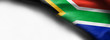 canvas print picture - Flag of South Africa on white background