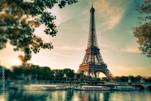 Fototapety, obrazy: Tour Eiffel Paris Vintage