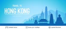 Hong Kong Famous City Scape.