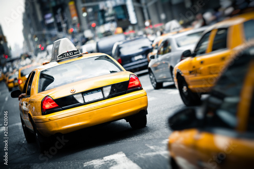 Tuinposter New York City Yellow Taxi in New York City