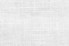 Jute Hessian White Sackcloth Woven Burlap Texture Pattern Background In Old Aged Light Grey Color