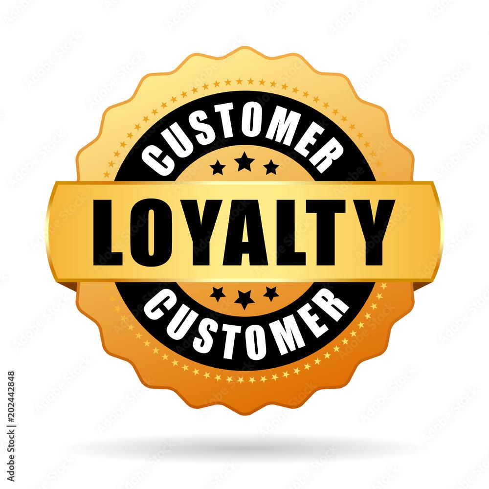 Fototapeta Customer loyalty program gold vector icon