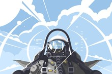 Fighter Pilot In Cockpit