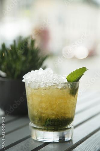 Fotografie, Obraz  Classic mint julep cocktail, outdoors