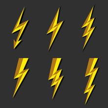 Lightning Thunderbolt Icon Vec...