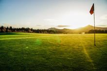 Golf Course With Sun