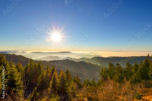 Fotografie, Obraz  Traumhafte Aussicht auf Schwarzwald / Schwarzwaldhochstrasse