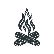 Bonfire Icon. Campfire Logo