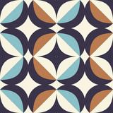 wzór retro w stylu skandynawskim z elementami geometrycznymi - 202464038