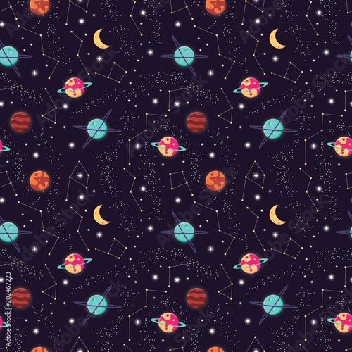 wszechswiat-z-planetami-i-gwiazda-bezszwowym-wzorem-kosmos-gwiazdzisty-nocne-niebo-wektorowa-ilustracja