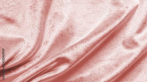 Rose gold pink velvet background or velour flannel texture made of cotton or woo Canvas Print