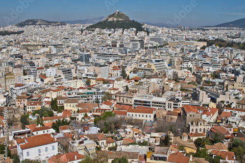 Staande foto Athene Athens Greece Skyline view. Athens Cityscape