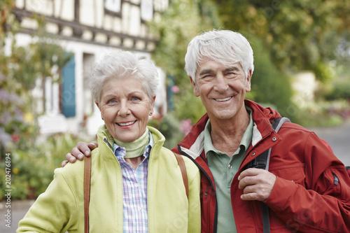 Germany, Ruedesheim, Germany, Ruedesheim, portrait of happy senior couple
