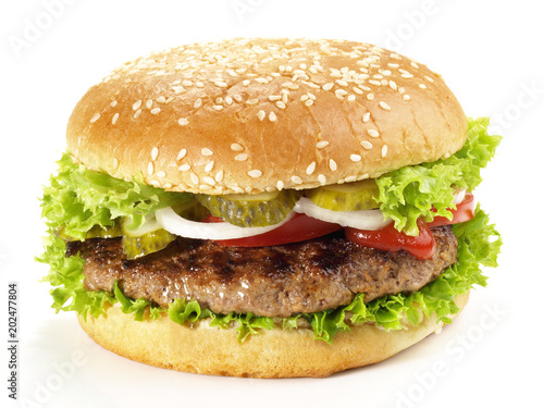 Photo Hamburger vom Grill