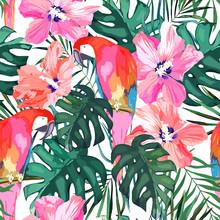 Tropical Seamless Pattern. Pal...