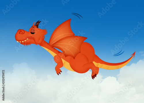 dragon flying in the sky