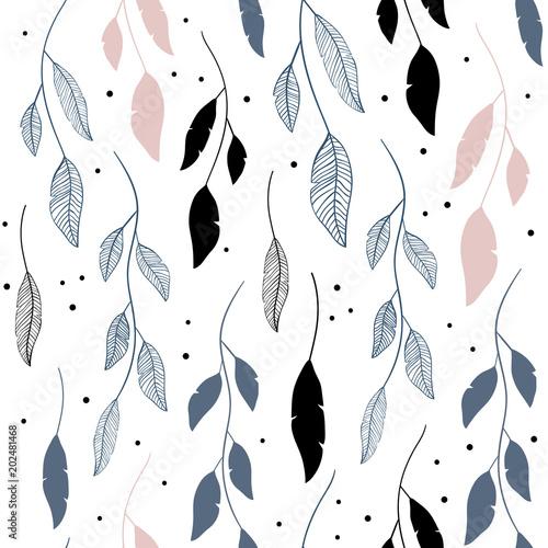Tapety Kwiaty wektorowy-bezszwowy-wzor-w-kwiecistym-stylu