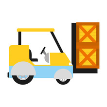 Industril Forklift With Delivery Shipping Packages