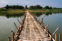 Bamboo Bridge, Kampong Cham, C...