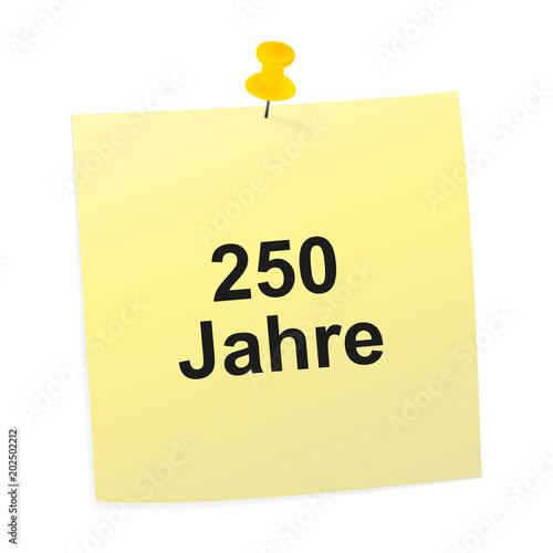 Poster  Notizzettel gelb - 250 Jahre