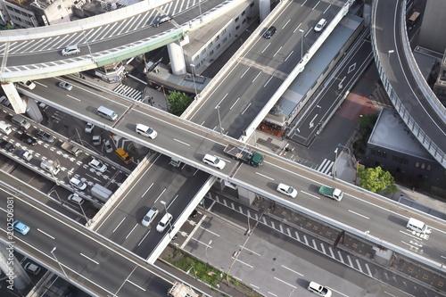 立体交差の道路