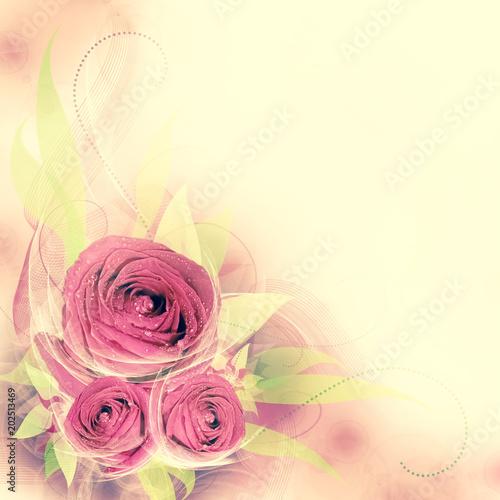 In de dag Bloemen Floral romantic tender background