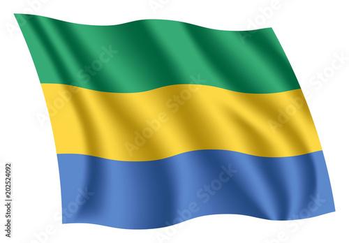 Fotografie, Obraz  Gabon flag