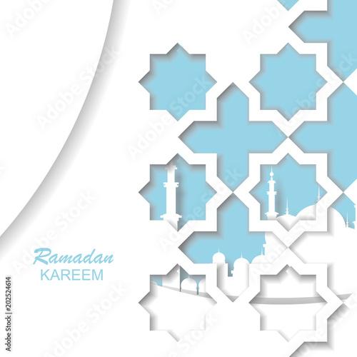 Ramadan kareem islamic greeting design line mosque dome with arabic ramadan kareem islamic greeting design line mosque dome with arabic pattern cut out of paper m4hsunfo