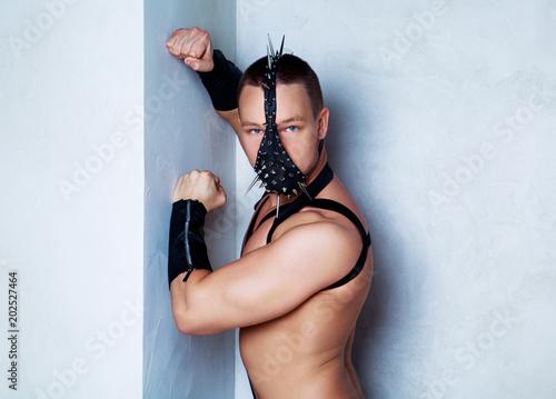 Fényképezés  dancer wearing a leather costume