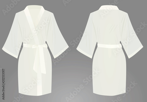 Fotografie, Obraz  White bathrobe. vector illustration