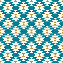 Vector Kilim Geo Teal Seamless Repeat Backgorund Pattern