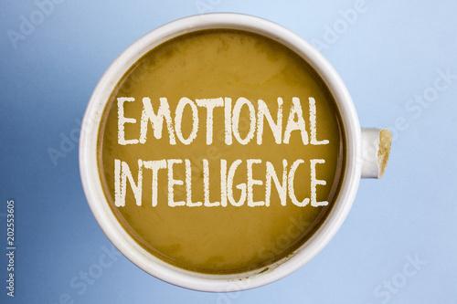 Fotografie, Obraz  Text sign showing Emotional Intelligence