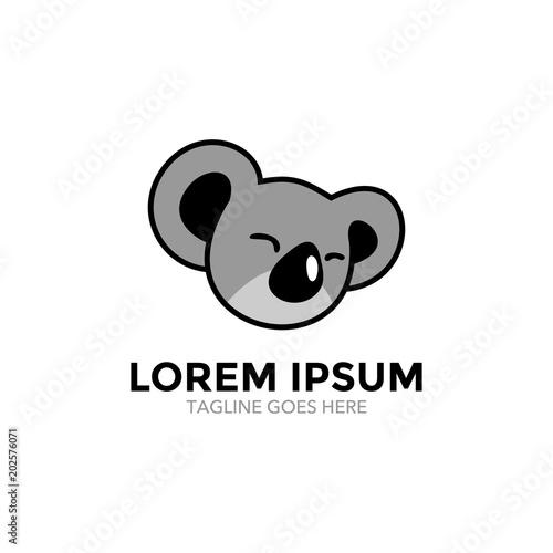 Fototapeta premium logo maskotki postaci koala