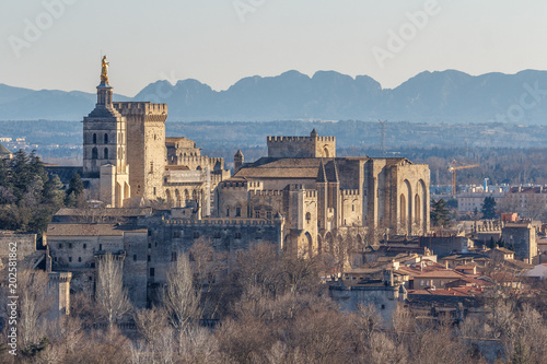 Fényképezés  View to the medieval popes palace in Avignon, France